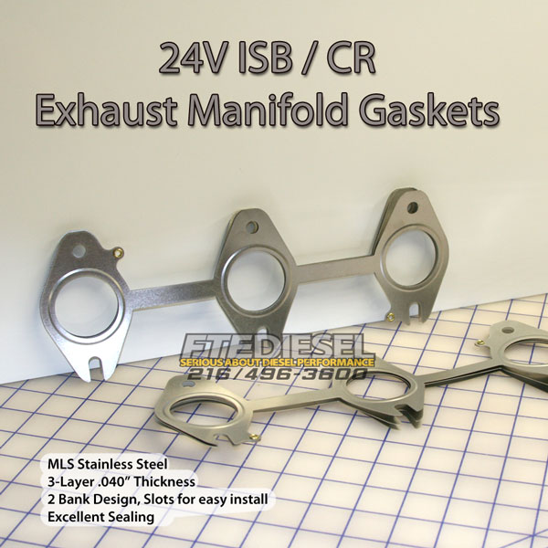 New Style Cummins 5 9Liter Exhaust Manifold Gaskets - Competition